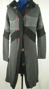 COP.COPINE Paris Hooded Long Sweater Coat 2 M/L